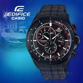 CASIO 卡西歐 手錶專賣店 國隆 EDIFICE EFR-561PB-1A 三眼計時男錶 橡膠錶帶 黑色錶面 防水