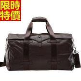 行李袋-肩背經典商務懷舊頂級真皮時尚大氣男手提包66b11[巴黎精品]