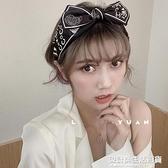 ins韓國氣質復古發箍女百搭甜美外出網紅蝴蝶結頭飾寬邊優雅頭箍 設計師生活