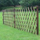 碳化防腐木插地柵欄 圍欄 戶外庭院護欄室外花園隔斷圍牆籬笆爬藤架  降價兩天