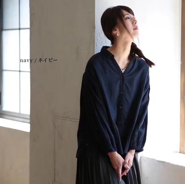 L上衣 日單純色開釦三色-月兒的綺麗莊園 X