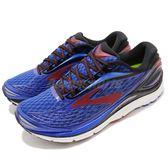 Brooks 慢跑鞋 Transcend 4 藍 紅 避震 輕量鞋面 舒適緩震 男鞋 運動鞋【PUMP306】 1102491D414