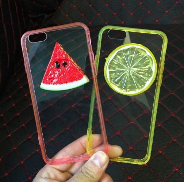 [24hr 火速出貨] 手機殼 蘋果 iphone 6s plus i5 5s se 原宿 夏日 水果西瓜套 檸檬 壓克力 軟殼