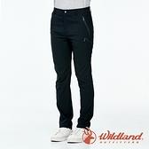 【wildland 荒野】男 彈性拼接合身透氣長褲『黑色』0A91318 戶外 休閒 運動 露營 吸濕 排汗 快乾