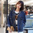 牛仔外套女春秋裝新款寬鬆學生韓版bf原宿風外套牛仔衣潮
