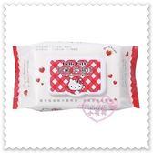 ♥小花花日本精品 ♥ Hello Kitty 紅白格紋 愛心 附蓋濕紙巾 抽取式柔濕巾 (70抽)57012803