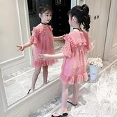 女童夏裝洋裝/連身裙2021新款超洋氣小女孩兒童短袖寬鬆韓版雪紡公主裙 快速出貨