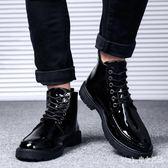馬丁靴 秋季男鞋子韓版高幫皮鞋英倫皮鞋商務 nm6002【Pink中大尺碼】