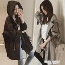 中長款女韓版學生2021年秋裝百搭新款春秋寬鬆連帽薄款bf風衣外套 夏季狂歡
