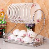 家用碗盤瀝水架收納碗櫃碗碟套裝雙層廚房用品置物架晾餐具盤子架   XY2828   【KIKIKOKO】