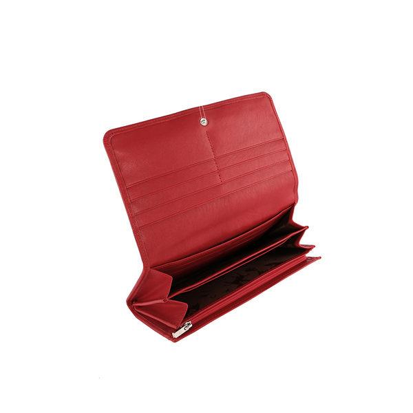 【LONGCHAMP】小羊皮對折長夾(紅色) 3146737045