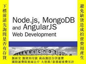 二手書博民逛書店Node.js,罕見Mongodb And Angular Web Development: The Defini