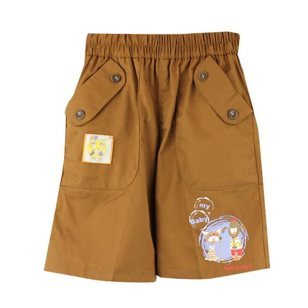 【愛的世界】純棉鬆緊帶歡唱時光五分褲/2歲-台灣製- ★春夏下著