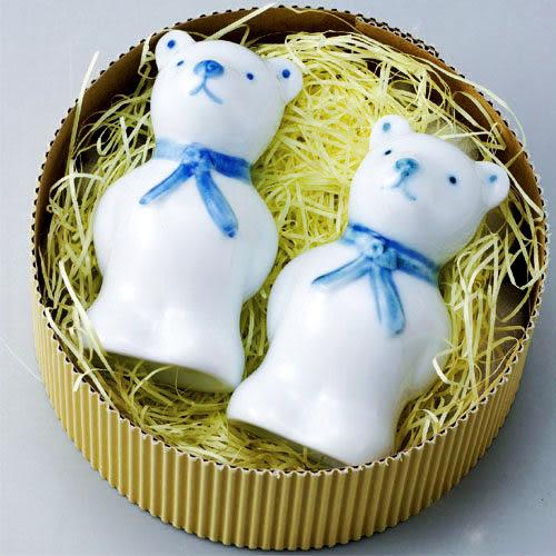 【多禮量販店】NARUMI 胡椒、鹽罐(熊) 禮盒(C10217)