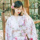 新春大吉 日本女式傳統櫻花和服正裝長款寫真演出浴衣睡袍和服古裝