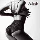 Aubade玫瑰物語S-XL高彈蕾絲高腰褲(黑)HK