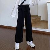 運動闊腿女褲子春夏裝2021新款初中高中學生韓版寬松百搭直筒長褲 橙子精品