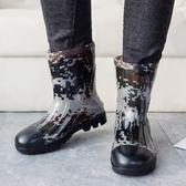 全館85折 雨靴水鞋套鞋中筒防水防滑釣魚鞋