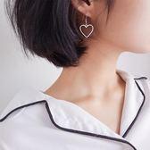愛心耳環女S925純銀韓國簡約氣質耳釘女個性百搭耳墜少女心 森活雜貨