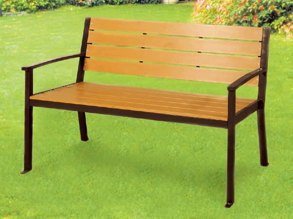 【 IS空間美學】鐵製塑木公園椅