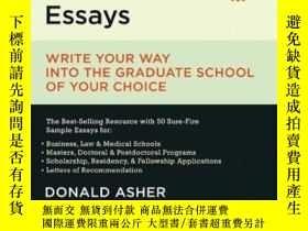 二手書博民逛書店Graduate罕見Admissions EssaysY364682 Donald Asher Ten Spe