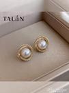 塔蘭旋渦珍珠耳環網紅耳釘2020年新款潮韓版簡約冷淡風小巧耳飾女 黛尼時尚精品