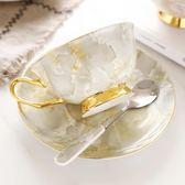 高檔描金骨瓷咖啡杯套裝英式紅茶杯歐式陶瓷咖啡杯碟下午茶送禮盒滿699元88折鉅惠