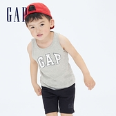 Gap男幼童 布萊納系列 Logo純棉運動背心 698319-灰色