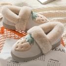 毛拖鞋 家用冬天可愛包跟棉拖鞋厚底毛拖月子鞋室內保暖家居棉鞋女秋冬季 唯伊時尚