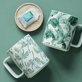cybil北歐INS大容量陶瓷早餐杯馬克杯居家辦公室綠色植物情侶杯子  晴光小語