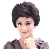 假髮(短髮)真髮絲-熟齡時尚成熟蓬鬆女假髮2色73ek43【時尚巴黎】