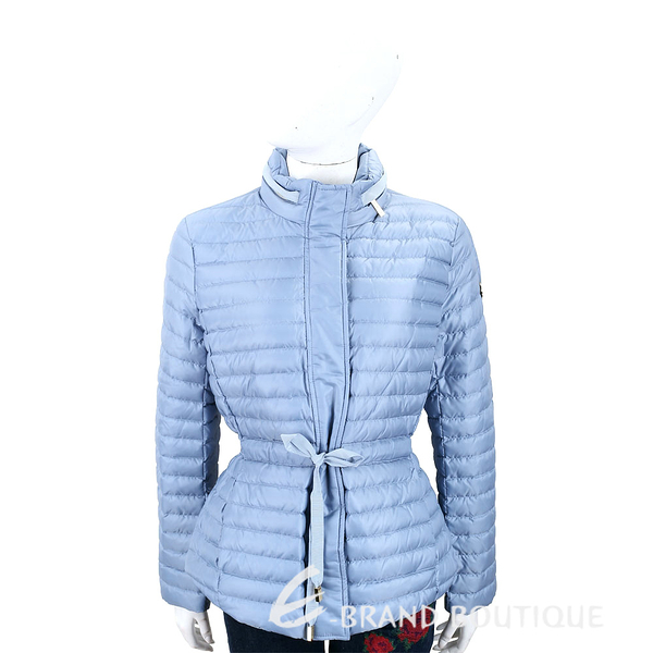 Michael Kors 絎縫可收納連帽天空藍抽繩綁帶羽絨外套 1840308-27