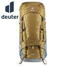 丹大戶外【Deuter】德國 55+10L Aircontact 拔熱式透氣登山背包 3320321 土/湖藍