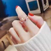蝴蝶戒指女網紅潮人時尚個性Chic食指環冷淡風開口可調節時尚通勤 智慧e家