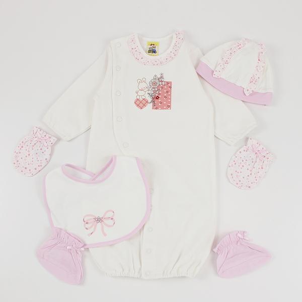 【愛的世界】純棉長袖兩用嬰衣禮盒/3~6個月-台灣製-  ---禮盒推薦