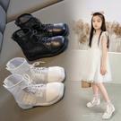 女童網靴2021夏季薄款鏤空網鞋透氣網紗涼鞋春秋兒童馬丁靴短靴子 一米陽光