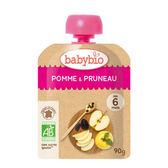 【愛吾兒】法國 Babybio 有機蘋果黑棗纖果泥 6個月以上適用