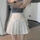 百褶裙 雪紡百褶裙女夏裝新款氣質高腰a字半身裙設計感小眾小個子短裙子 晶彩