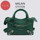 【台中米蘭站】BALENCIAGA 巴黎世家 綠色 銀扣 MINI CITY 斜背包