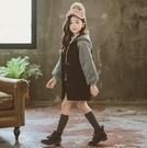 衣童趣(•‿•)韓版女童 長版連帽外套 秋冬加厚 可愛法鬥百搭外套