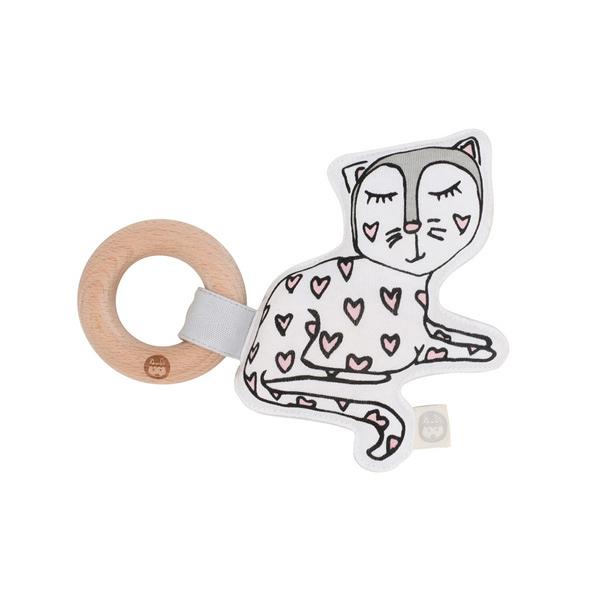 澳洲 Kippins 有機棉櫸木固齒器 凱蒂小貓