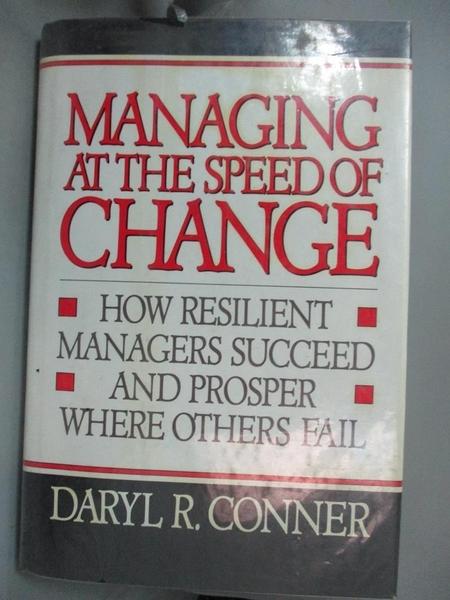 【書寶二手書T1/大學商學_YHV】Managing at...-How Resilient Managers..._Conner