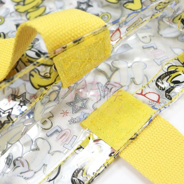 ☆小時候創意屋☆ 迪士尼 正版授權 透明 手提包 海灘包 環保材質 購物袋 旅遊袋 收納袋 手提袋
