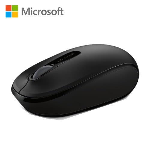Microsoft 微軟 1850 無線行動滑鼠 削光黑