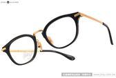 NINE ACCORD 光學眼鏡 UNION NASS C01 (黑-金) 鈦金屬系列簡約款 # 金橘眼鏡
