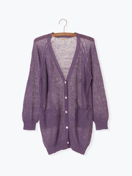 「Hot item」亞麻口袋開襟罩衫 (提醒 SM2僅單一尺寸) - Sm2