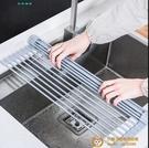 瀝水架水槽碗架可折疊放碗筷收納架子廚房置物架瀝水籃【小獅子】