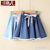 女童半身裙夏天2020新款韓版洋氣兒童牛仔裙夏季中大童百褶短裙子【小艾新品】