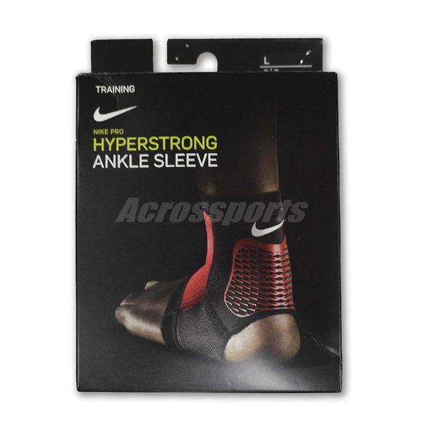 Nike 護踝套 Pro Hyperstrong Ankle Sleeve 男女款 腳踝護套 護具 籃球 跑步 訓練 黑 紅【PUMP306】 NMS84-002