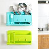 ✭慢思行✭【Q258】創意黏貼式收納架 冰箱 保鮮膜 洗漱 餐具 衛浴 牆面 捲紙 掛勾 懸掛